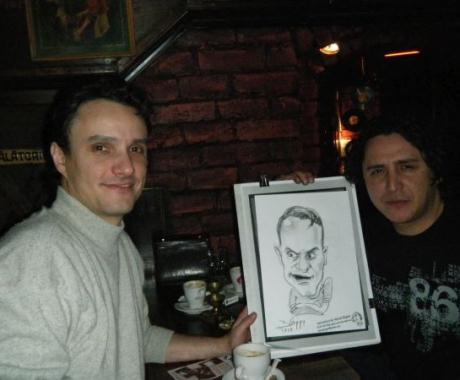Caricatura Actorului  Angel Popescu de la Mondenii