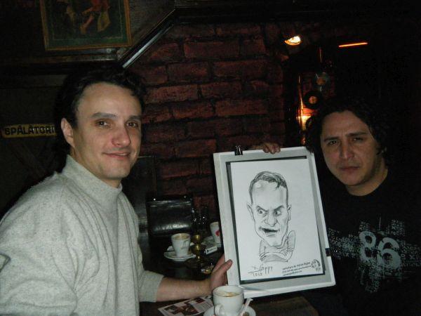 Caricatura mondenului Angel Popescu