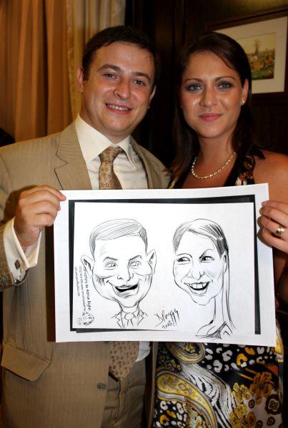 Entertainment cu caricaturi la Club Cortina, Bucuresti