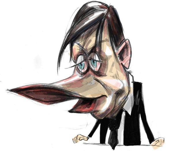 Caricatura politicianului Crin Antonescu