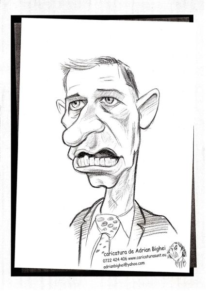 Caricatura politicianului Mircea Geoana