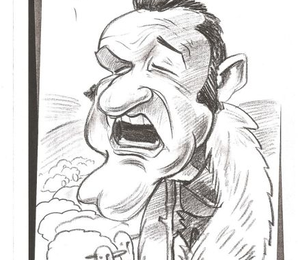 Caricatura Gigi Becali