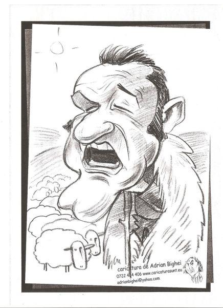 Caricatura lui Gigi Becali