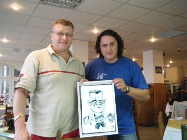 Caricatura halterofilului Nicu Vlad