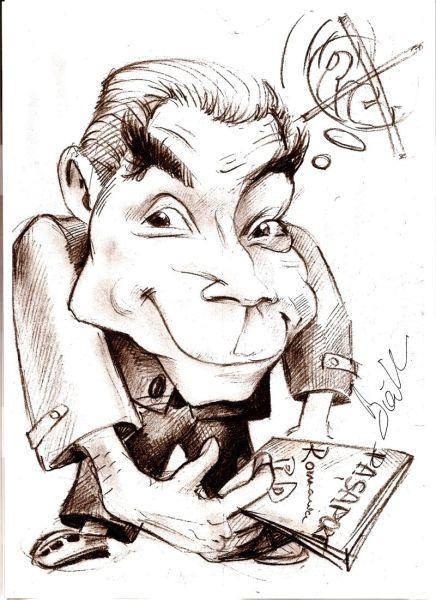 Caricatura politicianului Petre Roman