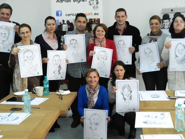 Caricatura de grup la Mediplus