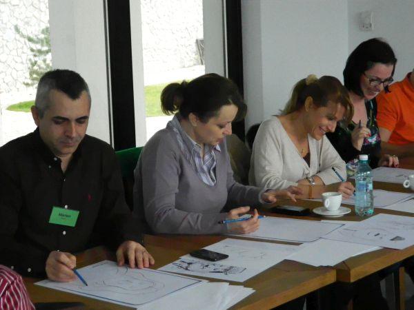 Training despre caricatura la Mediplus