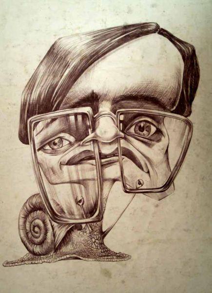 Caricatura politicianului Victor Ciorbea