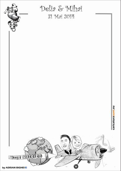 Caricatura antet nunta, Intorsura Buzaului, Covasna