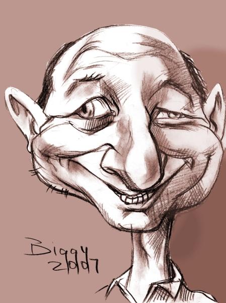 Caricatura Traian Basescu - Sepia