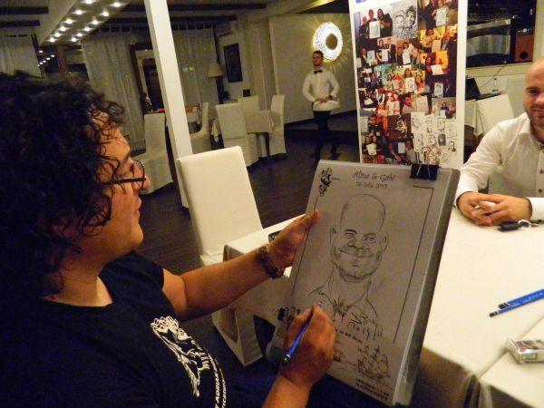 Marturii caricaturi la nunta Alinei si a lui Gabi, Bucuresti
