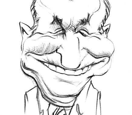 Caricatura Ion Iliescu