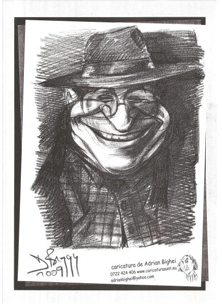 Caricatura Ion Iliescu - Mafia 2009
