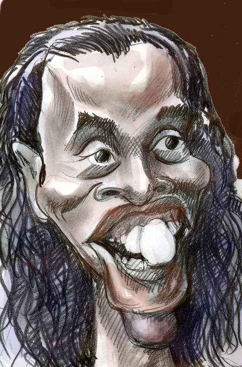 Caricatura Ronaldinho by Adrian Bighei