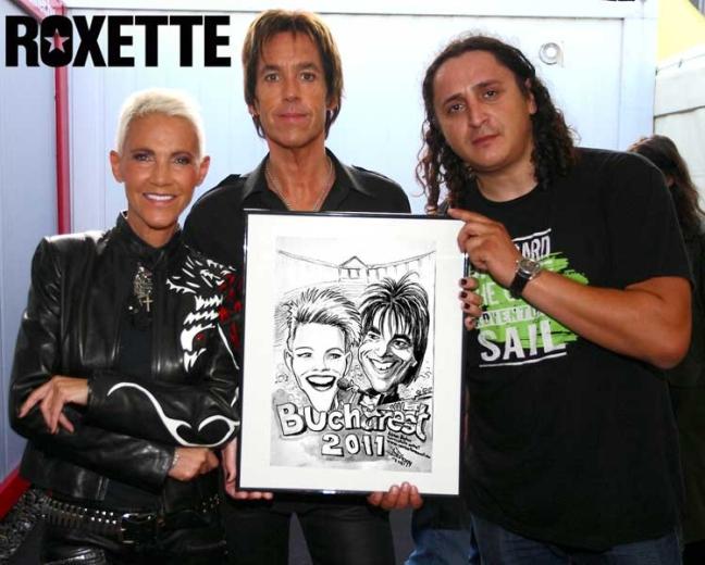 Caricatura concert Roxette 2011 by Adrian Bighei