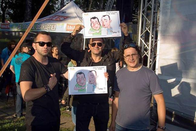 Caricaturi Daniel Buzdugan si Mihai Morar