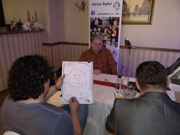 caricaturi botez Alexandru Cerbu