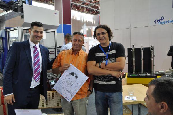 Entertainment cu caricaturi la Expoplast, Bucuresti