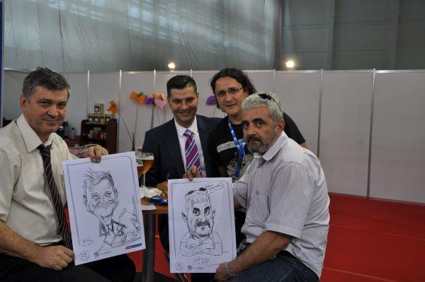 Entertainment cu caricaturi la Exploplast, Bucuresti