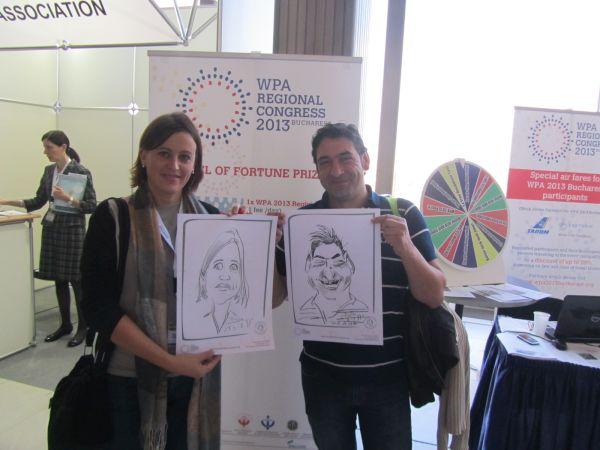 Caricaturi WPA Regional Congress - Praga