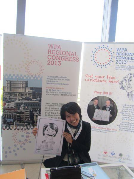 Caricaturi WPA Regional Congress - Praga by Adrian Bighei