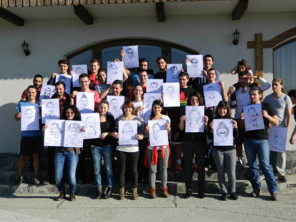 Caricaturi la team building ING by Adrian Bighei