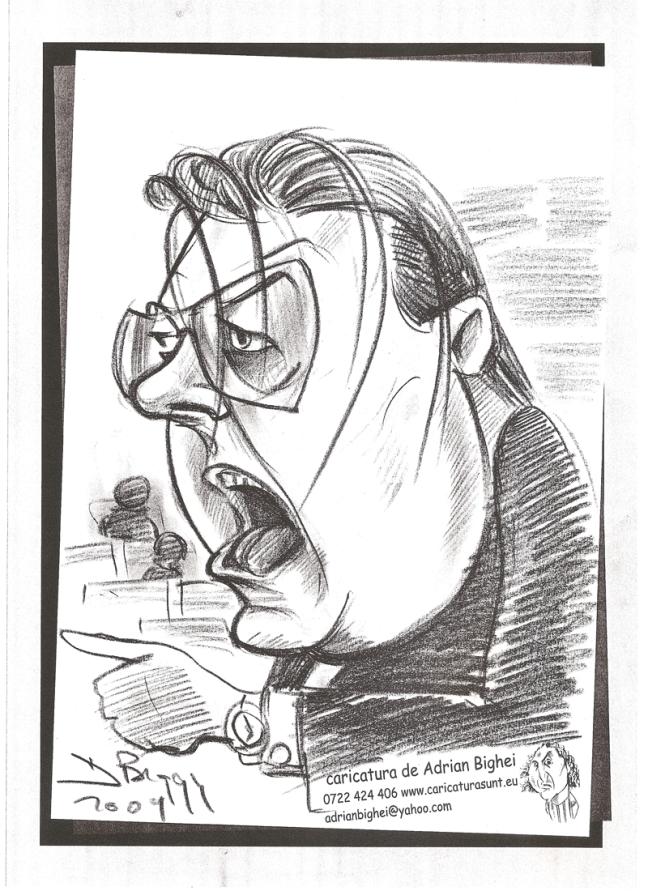 Caricatura politicianului Vadim Tudor