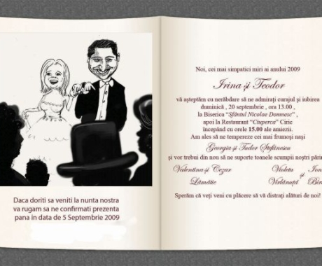 Invitatie nunta Irina si Teo, Iasi