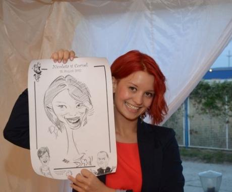 Caricaturi nunta Nicoleta & Cornel, Onesti, Bacau