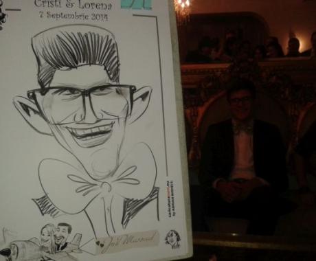 Caricaturi – marturie nunta , Cristi si Lorena, 7 septembrie 2014