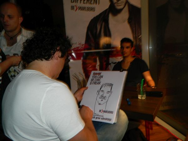 Caricaturi eveniment Marlboro, Bucuresti
