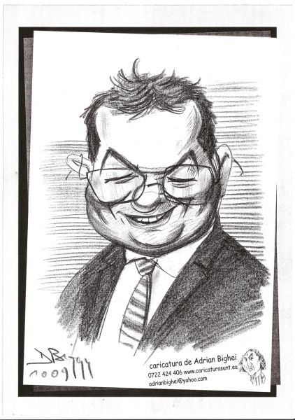 Caricatura Emil Boc by Adrian Bighei
