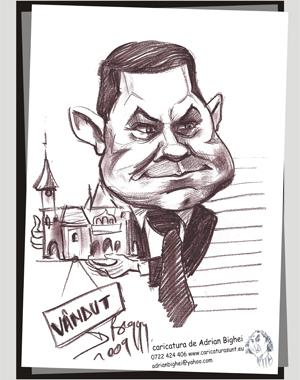 Caricatura Constantin Boscodeala, primarul Buzaului