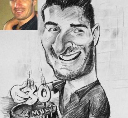 Caricatura – portret personalizata