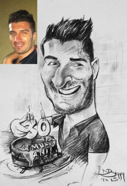 caricatura - portret personalizata by Adrian Bighei