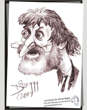 Caricatura Ion Vasile, Senator, Buzau