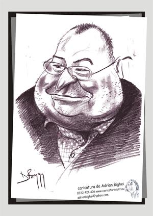 Caricatura Victor Mocanu