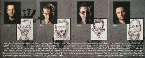 Caricaturi album trupa Taxi