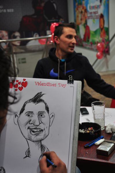 Caricaturi party Valentine's Day