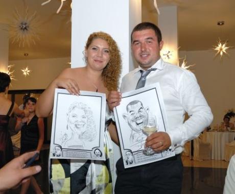 Caricaturi drept marturii la nunta, Restaurant Ballroom Cupola, Ploiesti