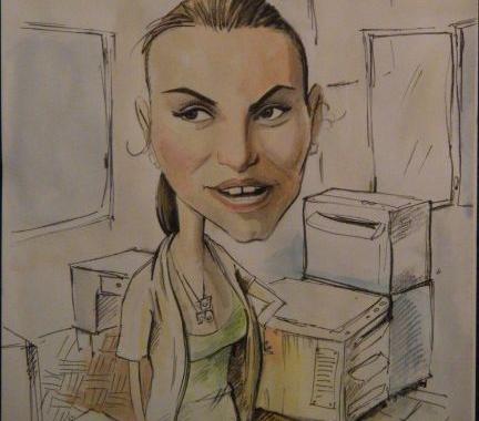 Model caricatura – portret la comanda