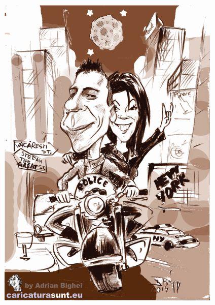 Caricatura de cuplu