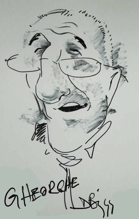 Caricatura Gheorghe Dinica by Adrian Bighei