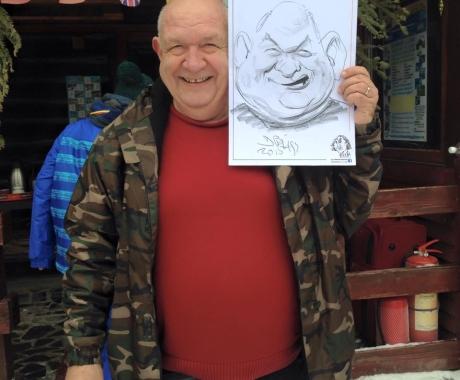 Caricatura live a Actorului Teodosiu Valentin