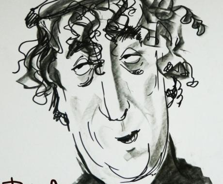 Caricatura sketch Toma Caragiu