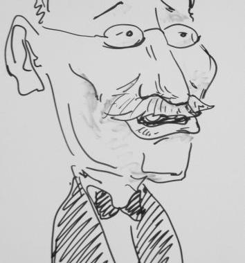 Caricatura sketch Victor Rebenciuc
