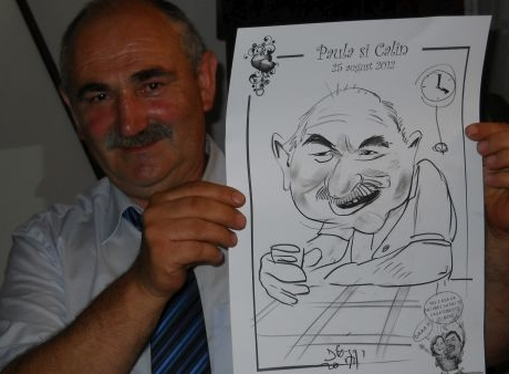 Caricaturi la nunta , Paula si Calin, Brasov