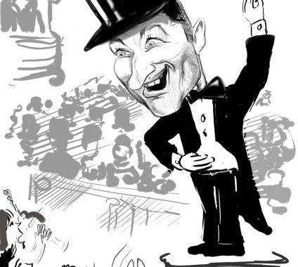 Caricatura realizata la comanda dupa fotografie