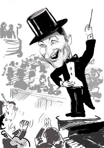 Caricatura dirijor