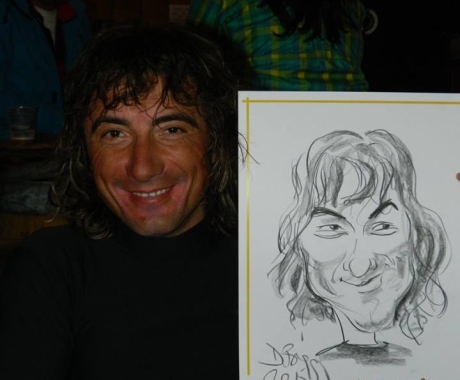 Caricatura sketch Toma Coconea